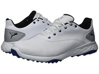 Puma Golf Grip Fusion White Black Blue Golf Shoes