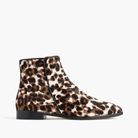 J.Crew Collection Calf Hair Ankle Boots Sienna Black Cat