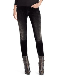 Ralph Lauren 50Th Anniversary Easton Mid Rise Skinny Jeans Black