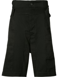 Ann Demeulemeester Belted Shorts Black