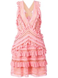 Thurley Crochet And Tassel Detailed Dress Pink And Purple