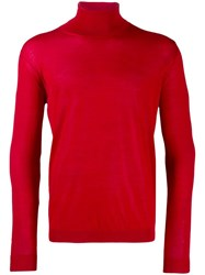 Nuur Roll Neck Jumper Red