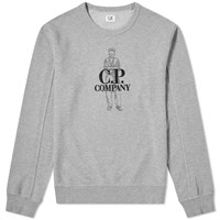 C.P. Company Sailor Embroidered Logo Sweat Grey