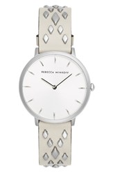 Rebecca Minkoff Major Studded Leather Strap Watch 35Mm