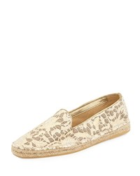Cole Haan Palermo Lace Espadrille Loafer Metallic Lace