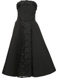 Christian Siriano Strapless Ball Gown Black