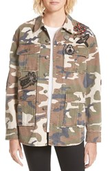 Cinq A Sept Women's Canyon Embellished Camo Military Jacket