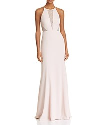 Aqua Lace Inset Gown 100 Bloomingdale's Exclusive Blush
