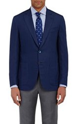 Isaia Men's Lightweight Two Button Sportcoat Blue