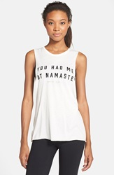Spiritual Gangster 'You Had Me' Graphic Muscle Tank White