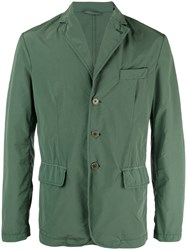Aspesi Three Button Blazer Men Polyamide Polyester L Green