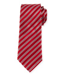 Striped Silk Tie Red Davidoff