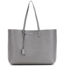 Saint Laurent Large Shopping Leather Shopper Grey