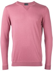 Laneus Fitted Sweater Men Silk Cashmere 50 Pink Purple