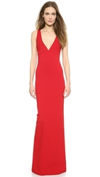 Dsquared Column Gown With Crisscross Back Red