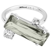 Ted Baker Brijit Crystal Ring Silver