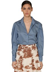 Johanna Ortiz Cotton Voile Shirt Light Blue