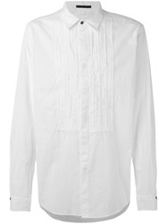 The Viridi Anne Pleated Front Shirt Men Cotton 4 White