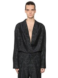 Etro Printed Cotton And Wool Twill Kimono Shirt
