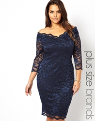 Lipstick Boutique Plus Lipstick Boutique 3 4 Sleeve Lace Bodycon Dress