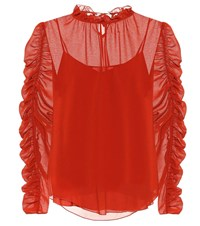 See By Chloe Crepe Blouse Red
