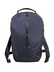 Emporio Armani Leather Blend Backpack Dark Blue