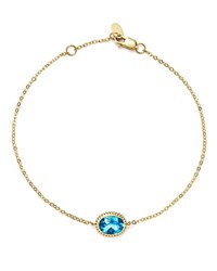 Bloomingdale's Blue Topaz Oval Bracelet In 14K Yellow Gold 100 Exclusive Blue Gold