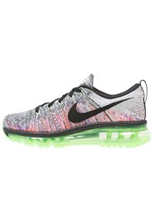 Nike Performance Flyknit Max Neutral Running Shoes White Black Ghost Green Bright Mango Blue Lagoon