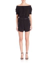 Ohne Titel Off The Shoulder Short Jumpsuit Black