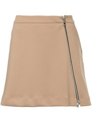 Guild Prime Zipped A Line Skirt Polyester Polyurethane Brown