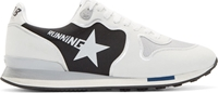 Golden Goose White Leather And Mesh Running Sneakers