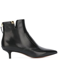 Tory Burch Pointed Toe Ankle Boots Black