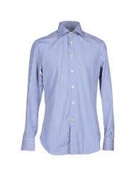 Kiton Shirts Shirts Men Blue