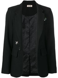 Zadig And Voltaire Very Gem Embellished Blazer Black