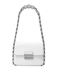 Michael Michael Kors Large Leather Shoulder Bag White