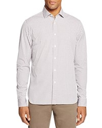 Bloomingdale's The Men's Store At Two Tone Gingham Slim Fit Button Down Shirt Wine