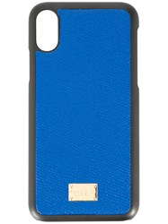 Dolce And Gabbana Iphone X Case Blue