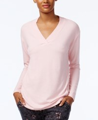 Alfani V Neck Pajama Top Only At Macy's Rose Pink