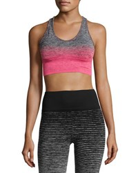 Marika Tek Dora Seamless Medium Impact Sports Bra Gray Pink