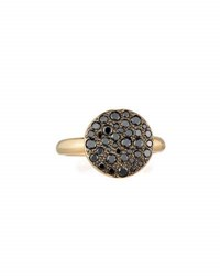 Pomellato Sabbia 18K Rose Gold And Black Diamond Ring