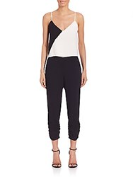 Parker Two Toned Spaghetti Strap Jumpsuit Black Pearl