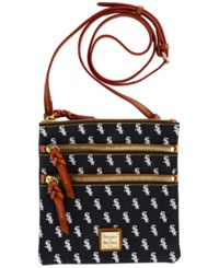 Dooney And Bourke Chicago White Sox Triple Zip Crossbody Bag