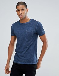 Tom Tailor T Shirt In Navy Texture With Pocket 6576