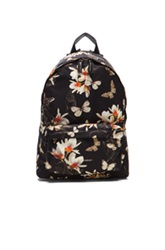 Givenchy Magnolia Moth Print Backpack In Black Floral Animal Print