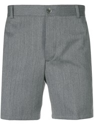 Thom Browne Rwb Stripe Straight Leg Short Grey