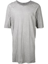 Isaac Sellam Experience Longline T Shirt Men Cotton S Grey
