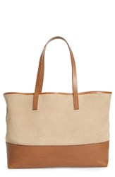 Pedro Garcia East West Suede And Leather Tote Brown Coco