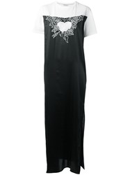 Each X Other Chest Embroidery Shift Dress Black