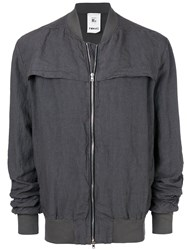 Lost And Found Rooms Zip Bomber Jacket Grey