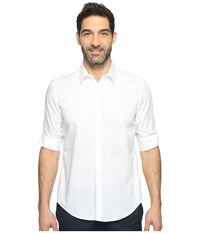 Calvin Klein Chambray Button Down White Men's Long Sleeve Button Up
